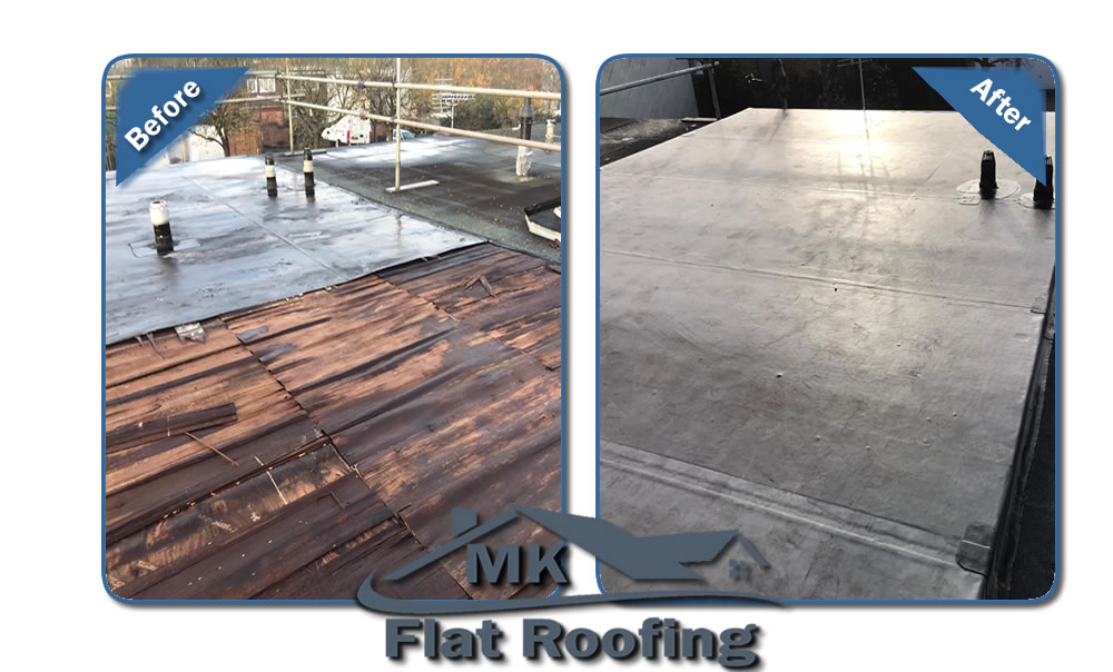 Flat Roof Replaced in Milton Keynes