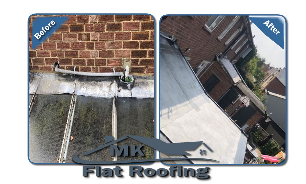 MK Roofing in Milton Keynes Roofing Before and After