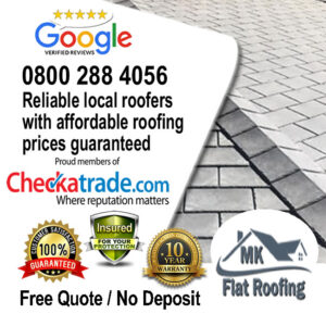 Rubber Roofing Repairs by Local Roofer MK