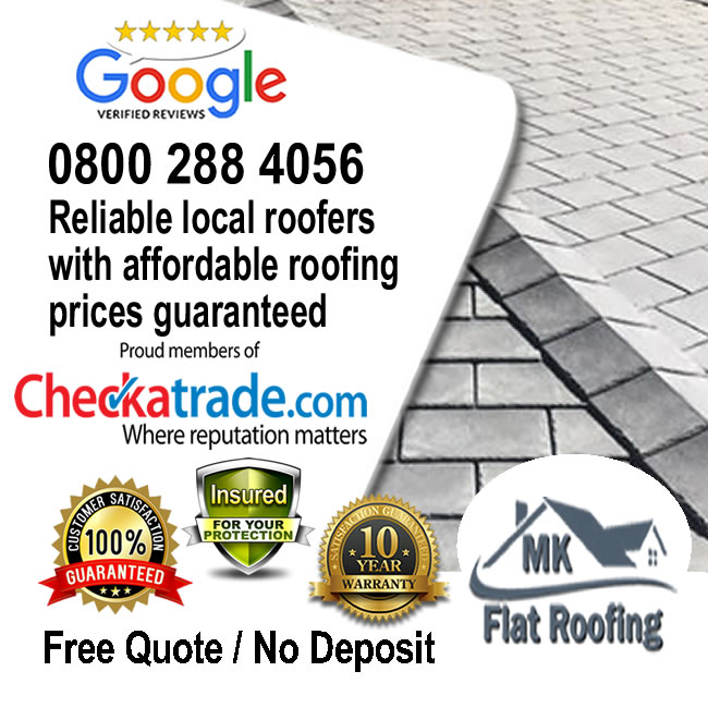 Rubber Roofing Replaced by Local Roofer MK
